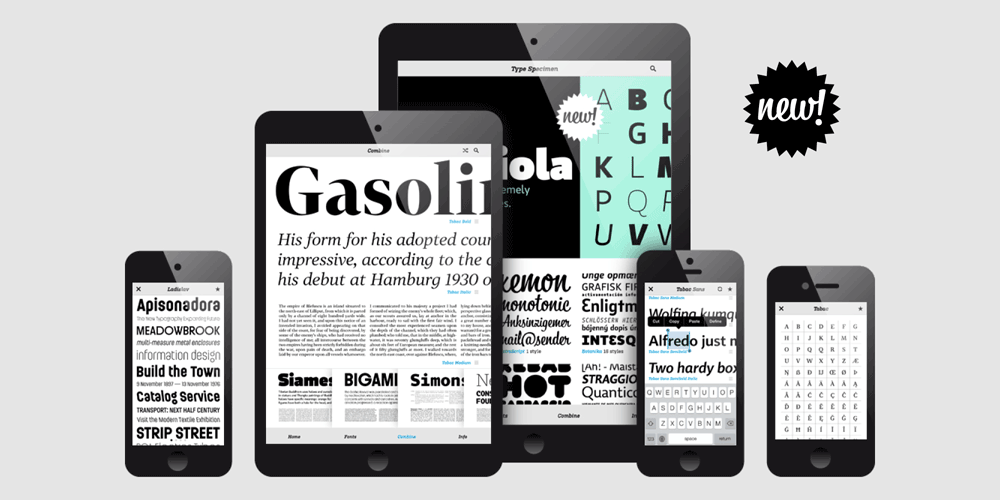 <h3>Brand new Type Specimen</h3>